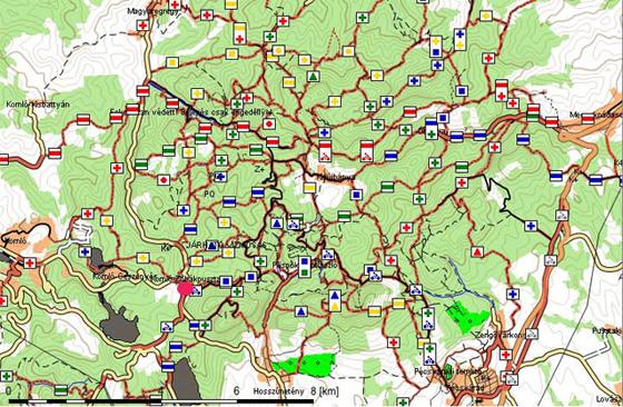 mecsek térkép Vargánya Tanya   Megközelítés mecsek térkép